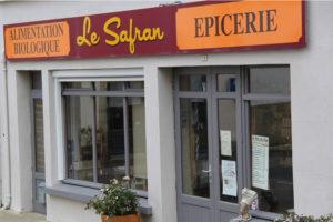 Façade de l'épicerie bio Le Safran à Pont-Croix