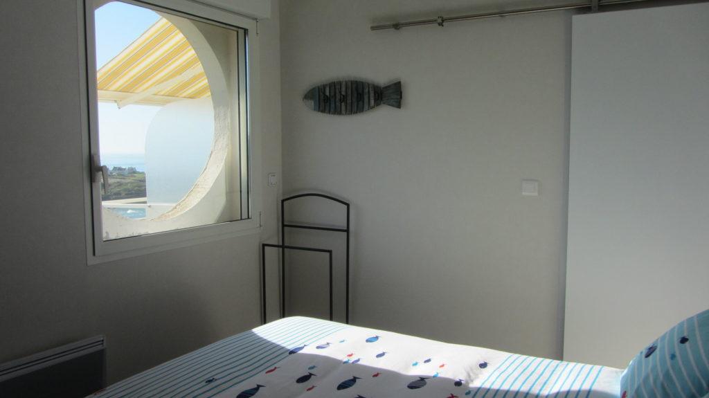 La chambre et sa vue mer