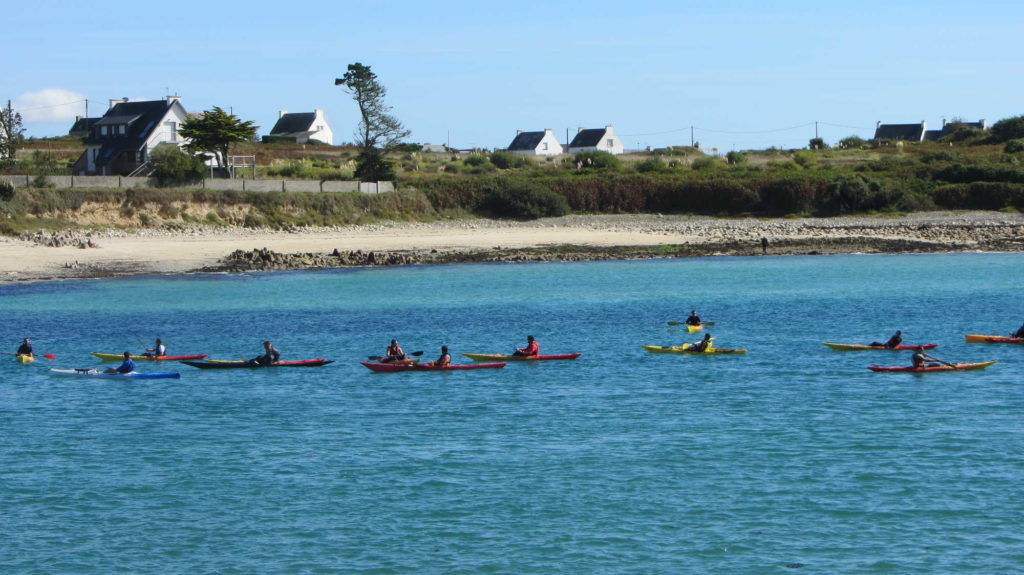 Kayakistes sur le Goyen