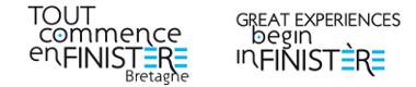 Logo marque Tout Commence en Finistère en français et en anglais