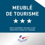 Logo classement meublé de tourisme 3 étoiles
